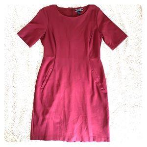Lands End Maroon Dress